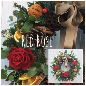 Red Rose Christmas Wreath