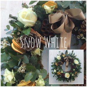 Snow White Christmas Wreath